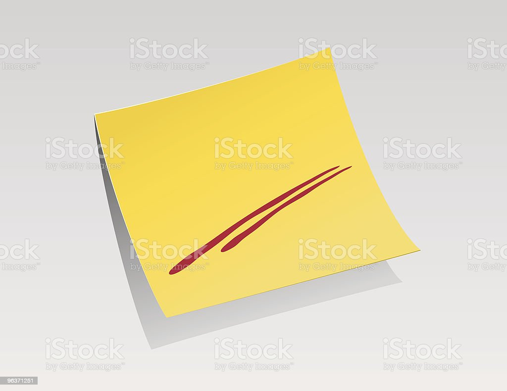 STICKY NOTE royalty-free stock vector art