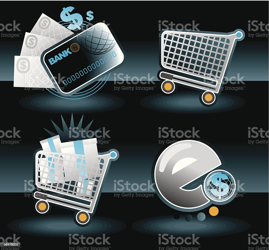 E COMMERCE IKONZ royalty-free stock vector art