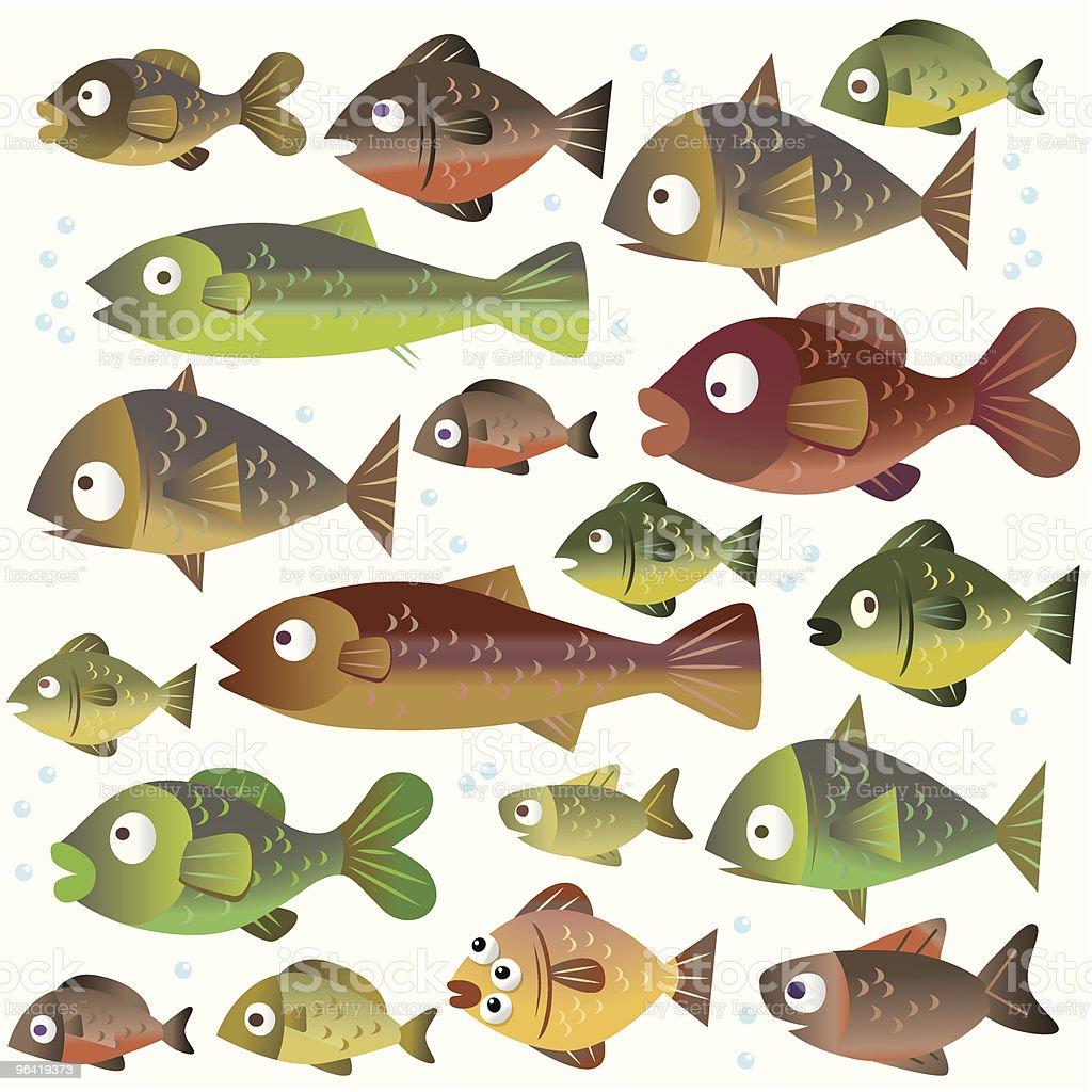 FREAKY FISH vector art illustration