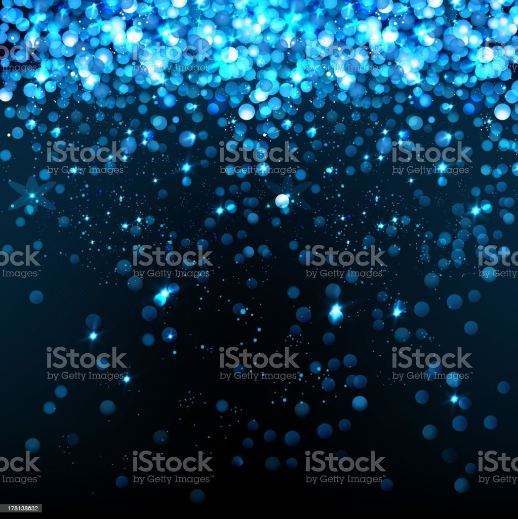 01_Blue_glittering_background vector art illustration