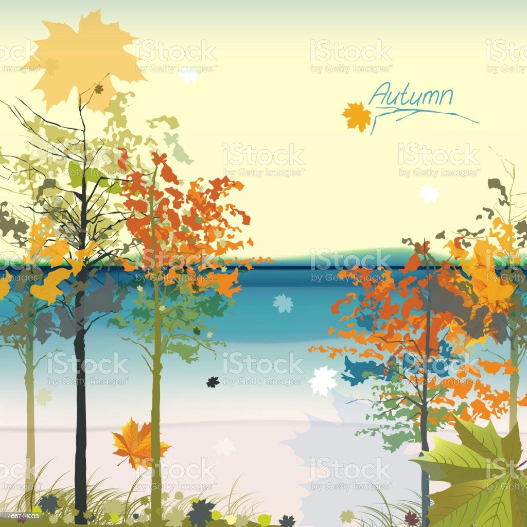 02_Autumn_Trees royalty-free stock vector art