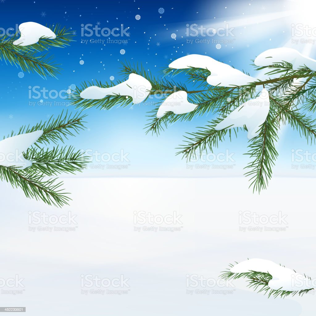 02_Snow landscape royalty-free stock vector art
