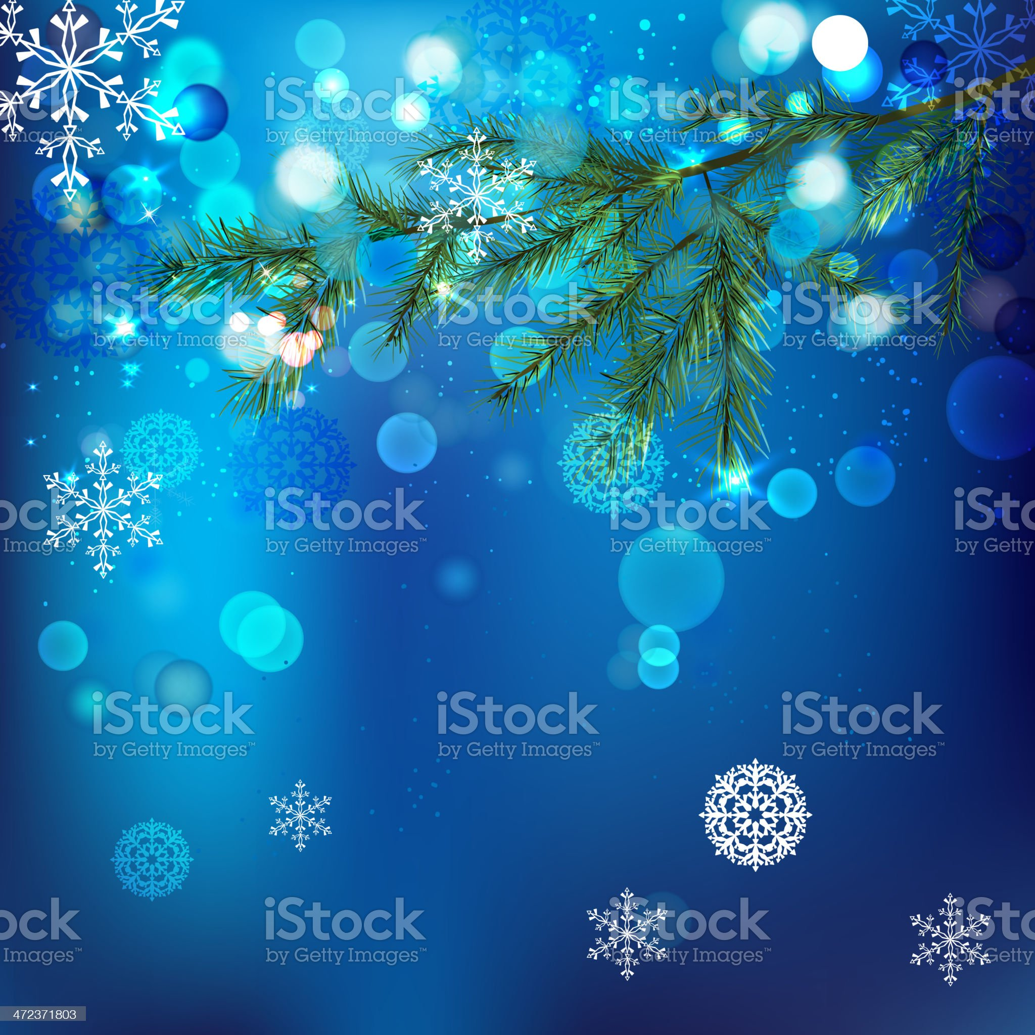 05_Snow branches royalty-free stock vector art
