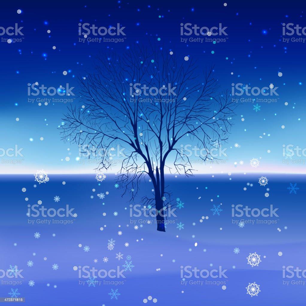 05_Snow landscape royalty-free stock vector art