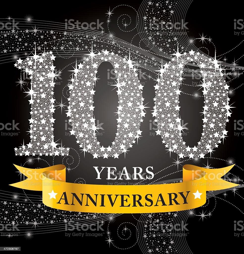 100th Anniversary vector art illustration