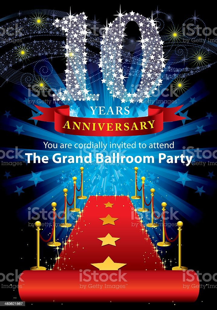 10th Anniversary Party royalty-free stock vector art