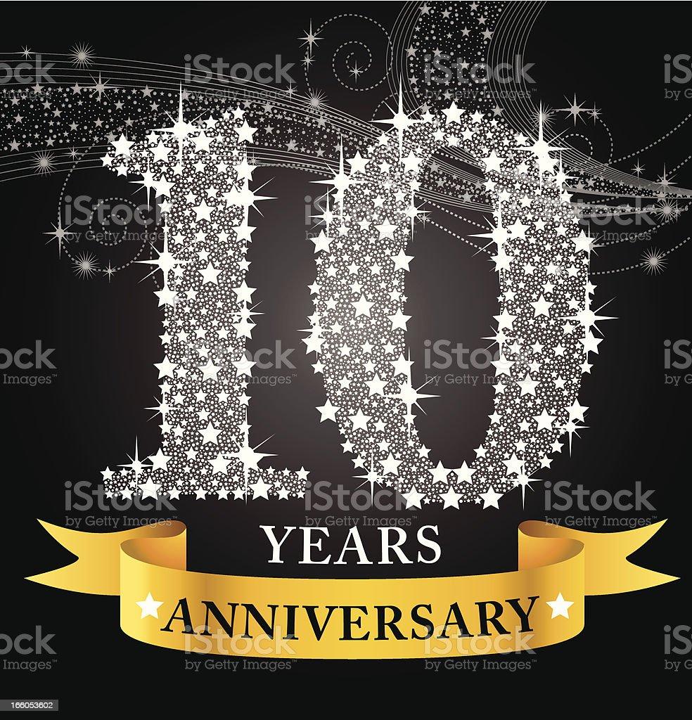 10th Anniversary vector art illustration