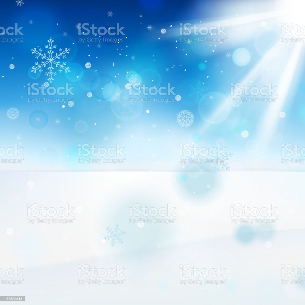 11_Snow landscape royalty-free stock vector art