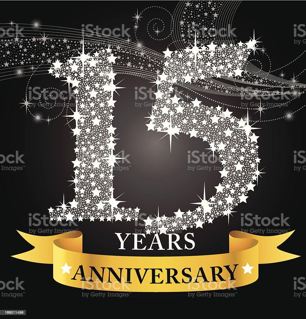 15th Anniversary vector art illustration