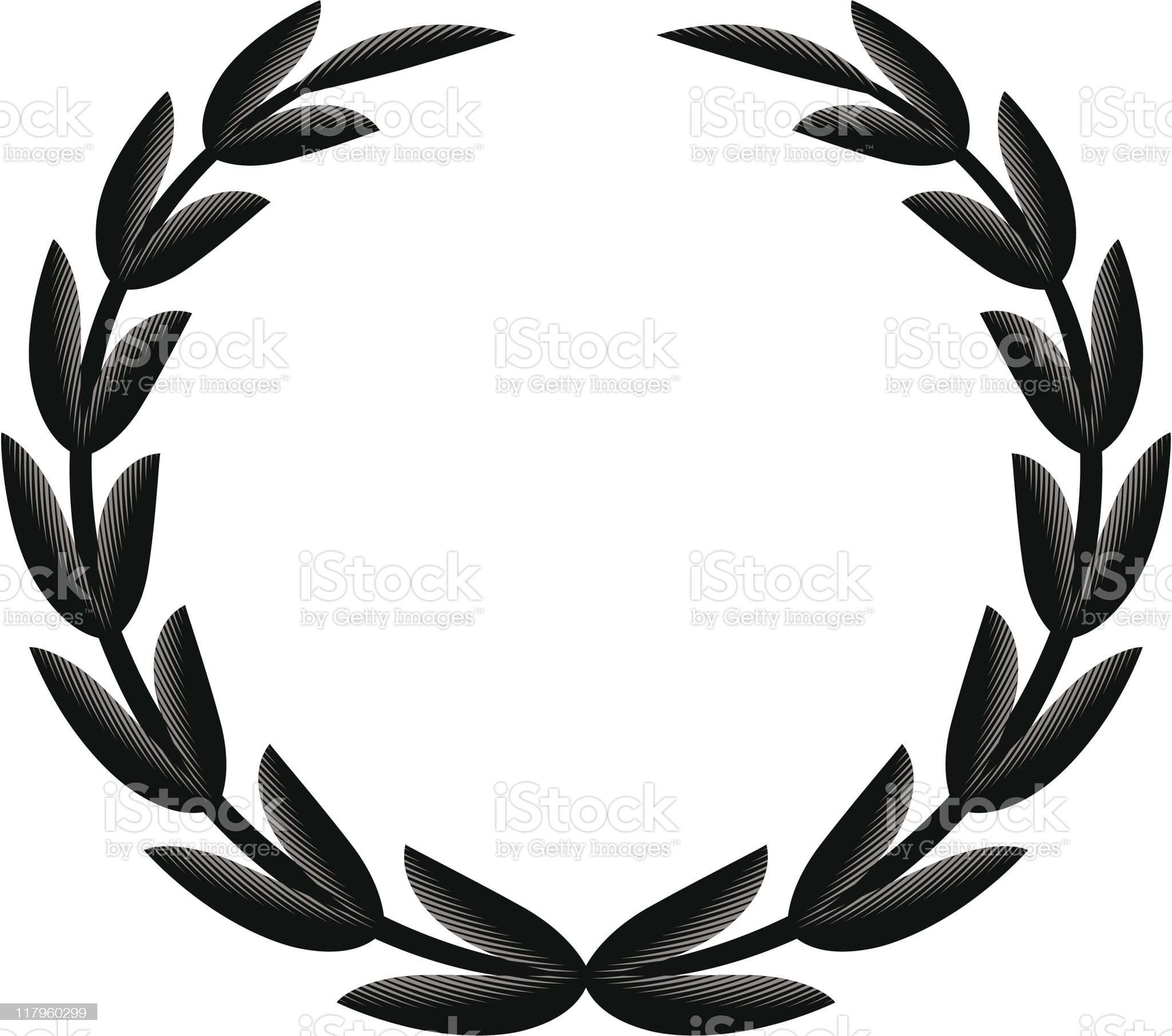 1-Credit Etched Wreath royalty-free stock vector art