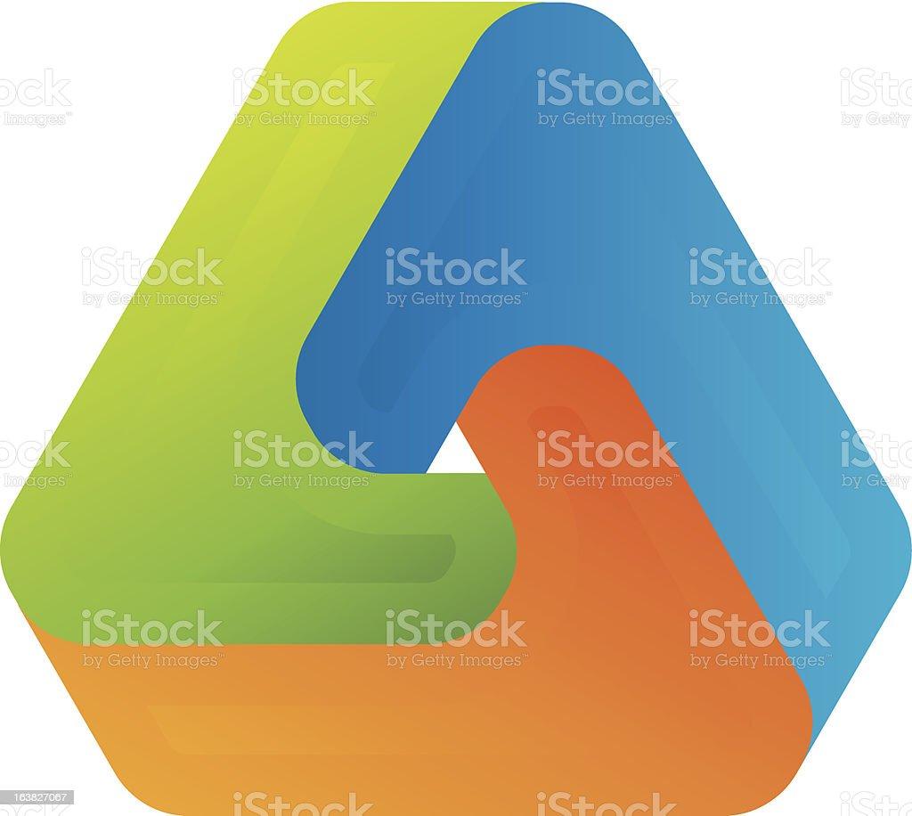 1-credit optical illusion royalty-free stock vector art