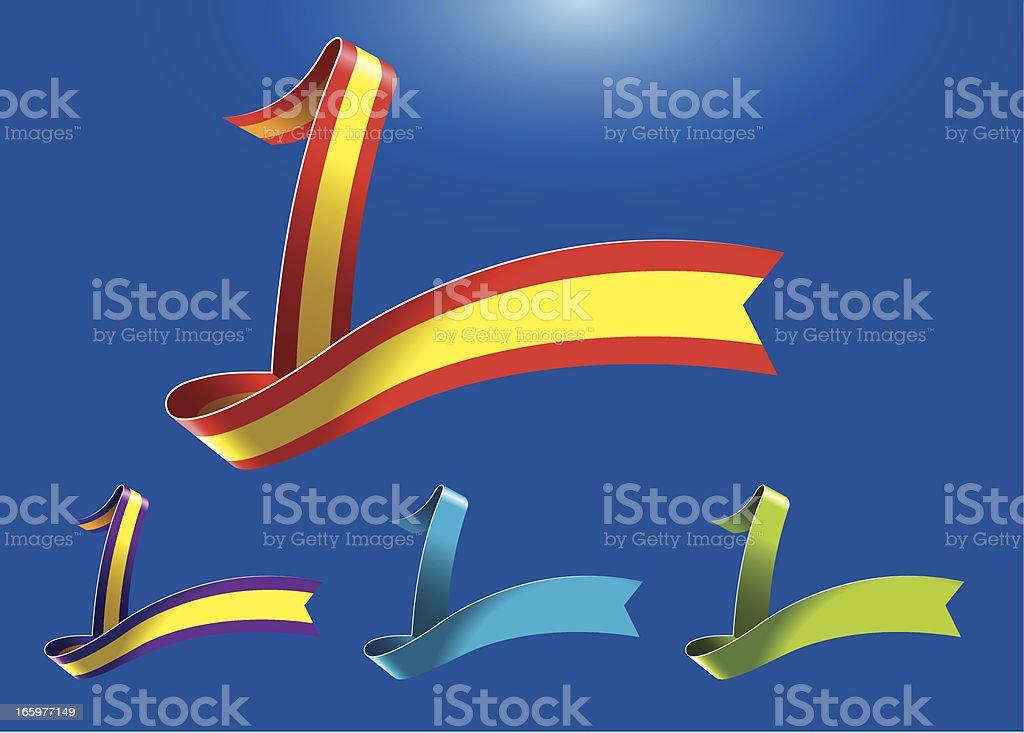 1st anniversary RibbonArt vector art illustration