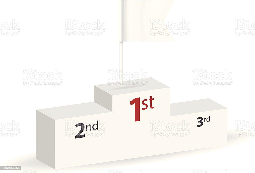 1st place pedestal vector art illustration