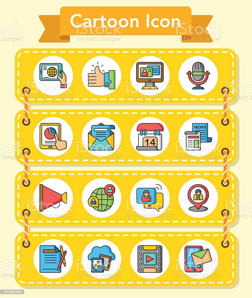 20160429_iconset_media vector art illustration