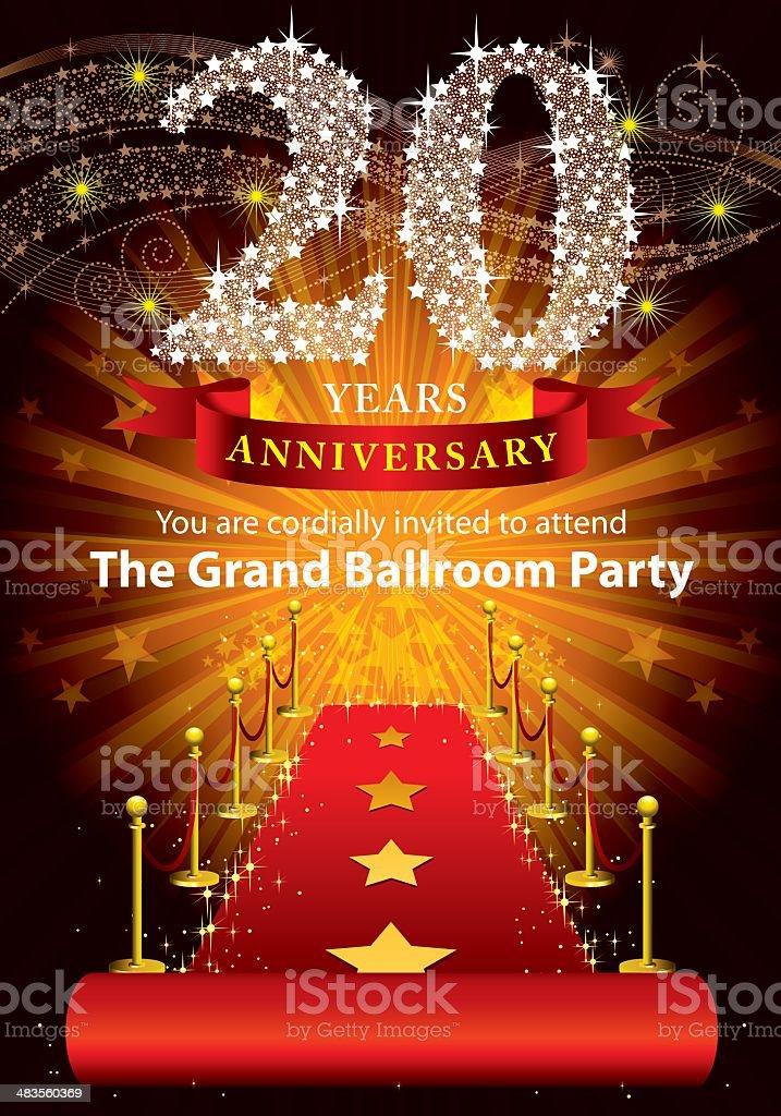 20th Anniversary Party vector art illustration