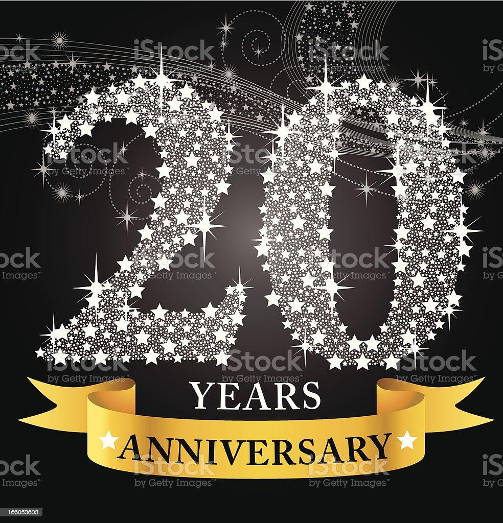 20th Anniversary vector art illustration