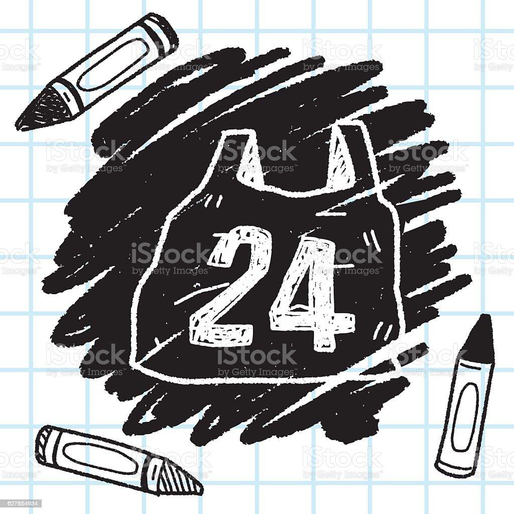 24hr shopping doodle vector art illustration