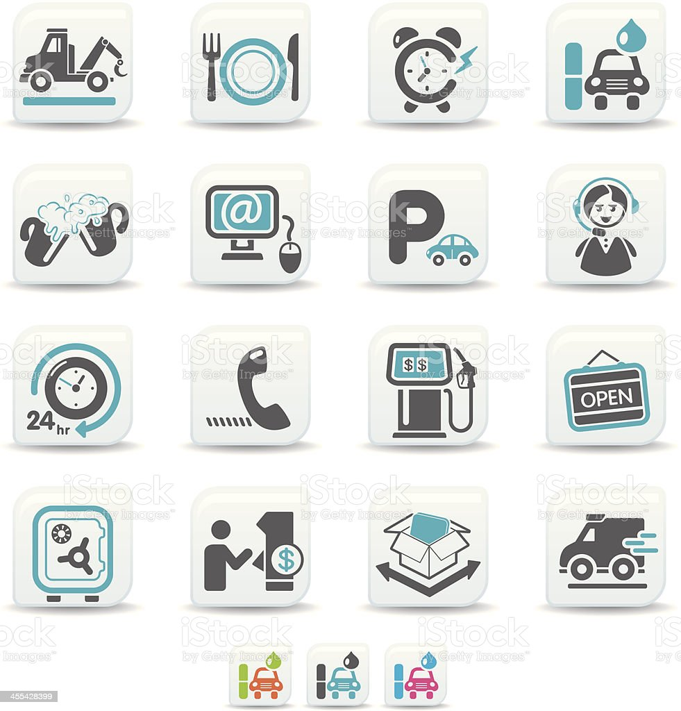 24hrs service icons | simicoso collection royalty-free stock vector art