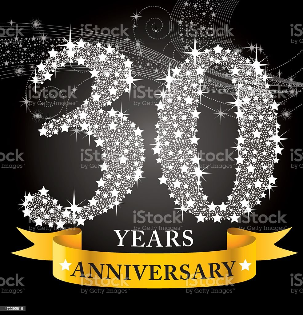 30th Anniversary royalty-free stock vector art