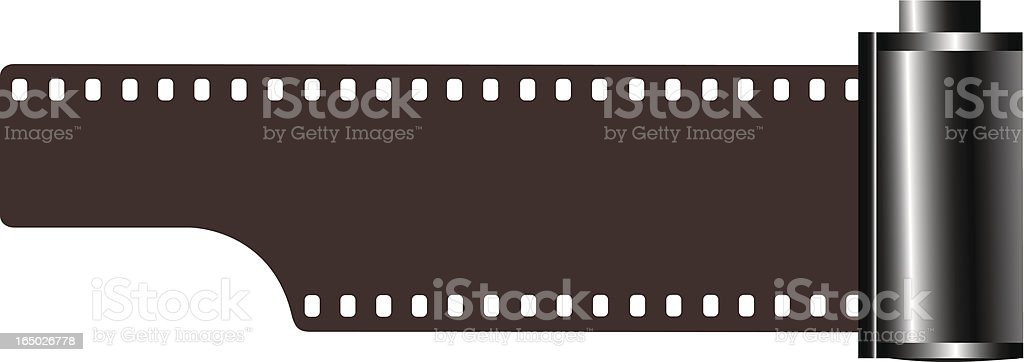 35mm film roll royalty-free stock vector art