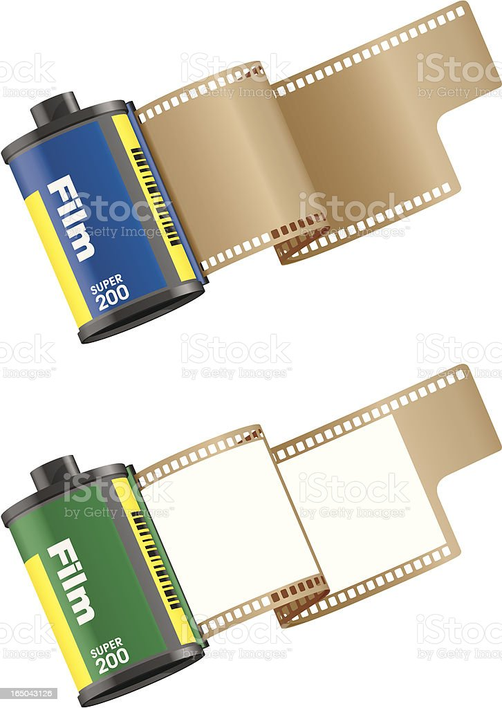 35mm Film Rolls royalty-free stock vector art