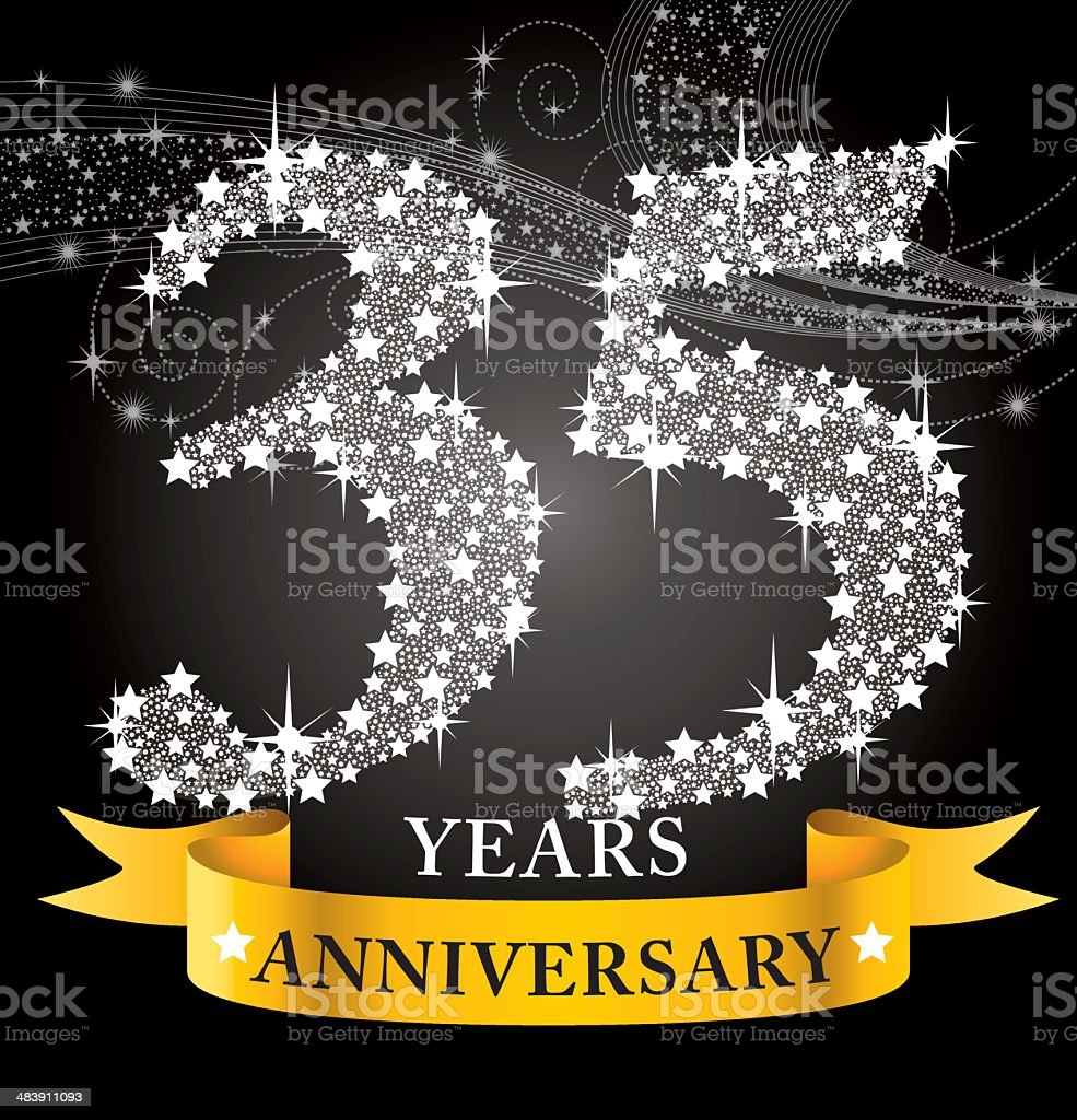 35th Anniversary royalty-free stock vector art