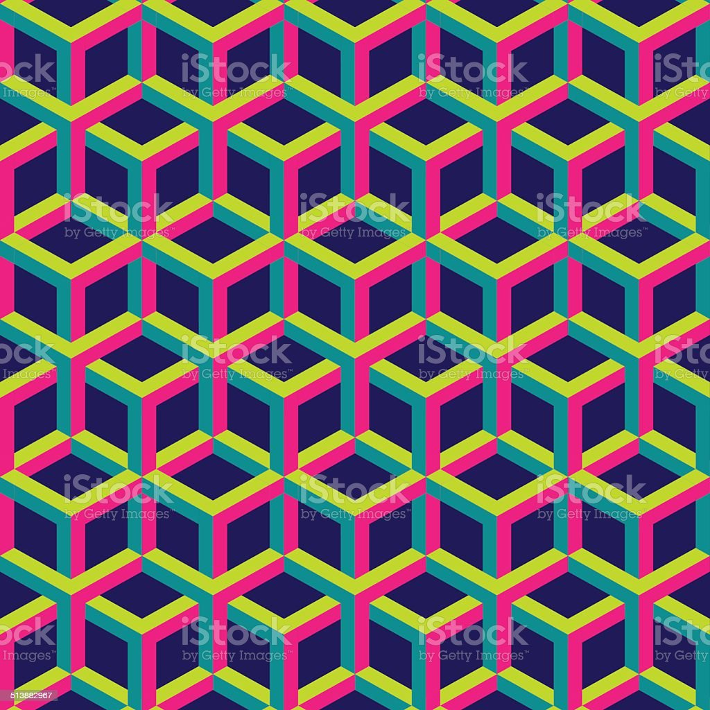 3d abstract geometric seamless background. Vector illustration. vector art illustration