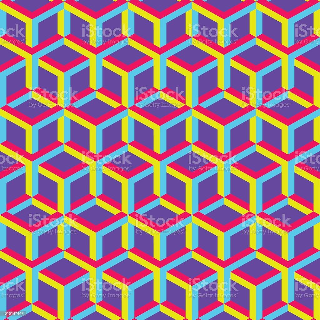 3d abstract geometric seamless background. Vector illustration. vector art illustration