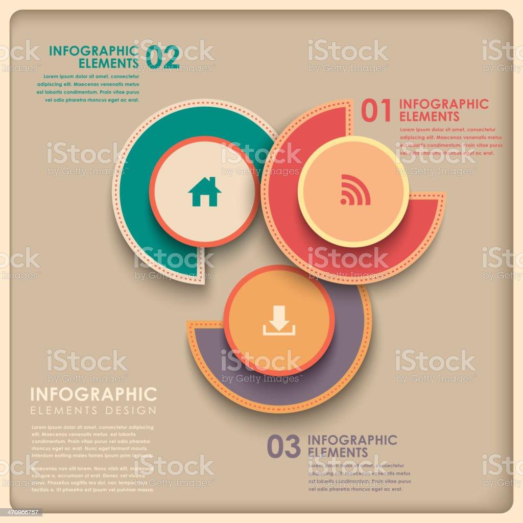 3d abstract pie chart infographics vector art illustration