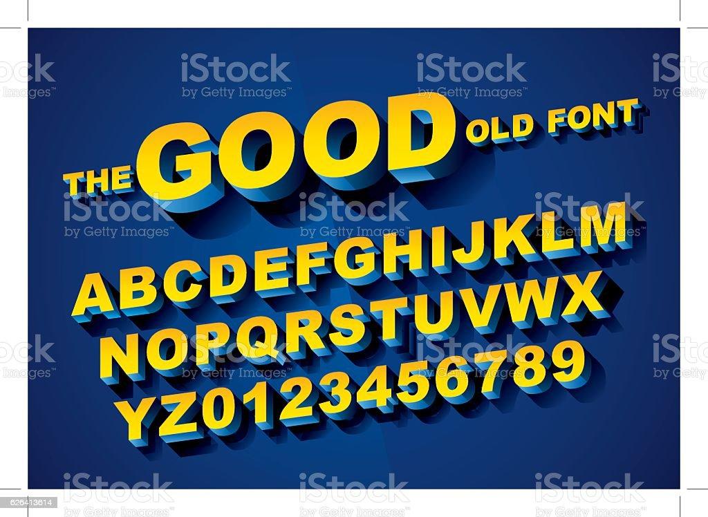 3d alphabet vector art illustration