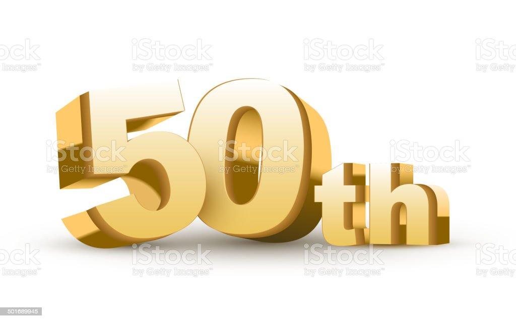 3d anniversary, 50th royalty-free stock vector art