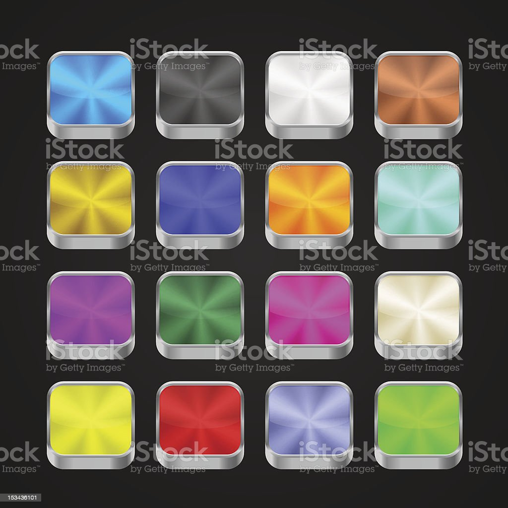 3d app metallic icons royalty-free stock vector art