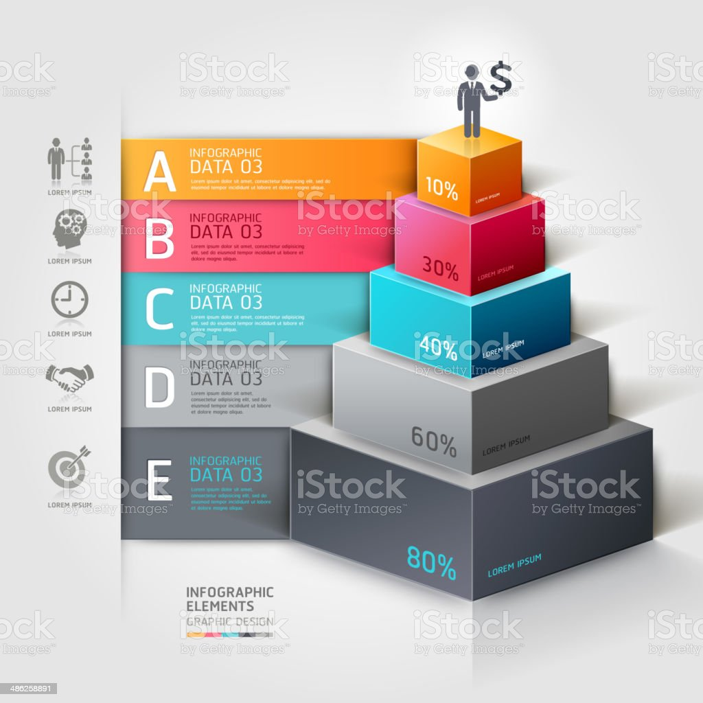 3d business infographics staircase diagram. royalty-free stock vector art