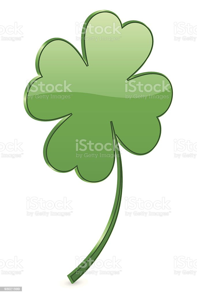 3d clover royalty-free stock vector art