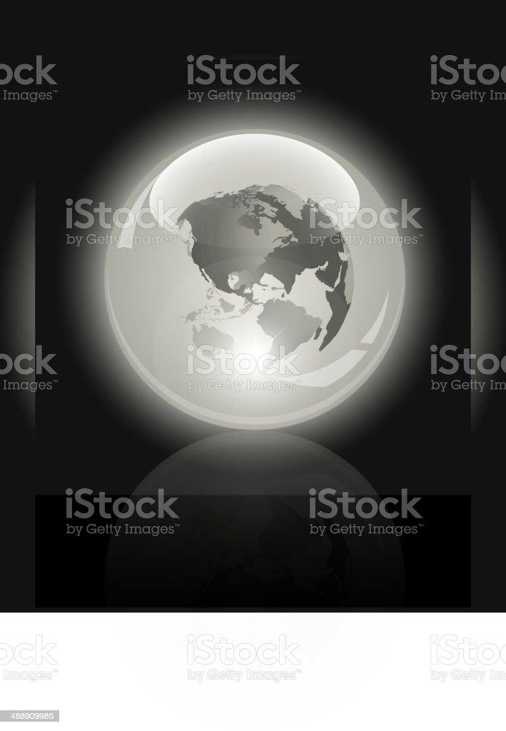 3 d de cristal mundo.   Mapa mundial dentro illustracion libre de derechos libre de derechos