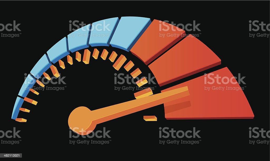 3d dial vector art illustration