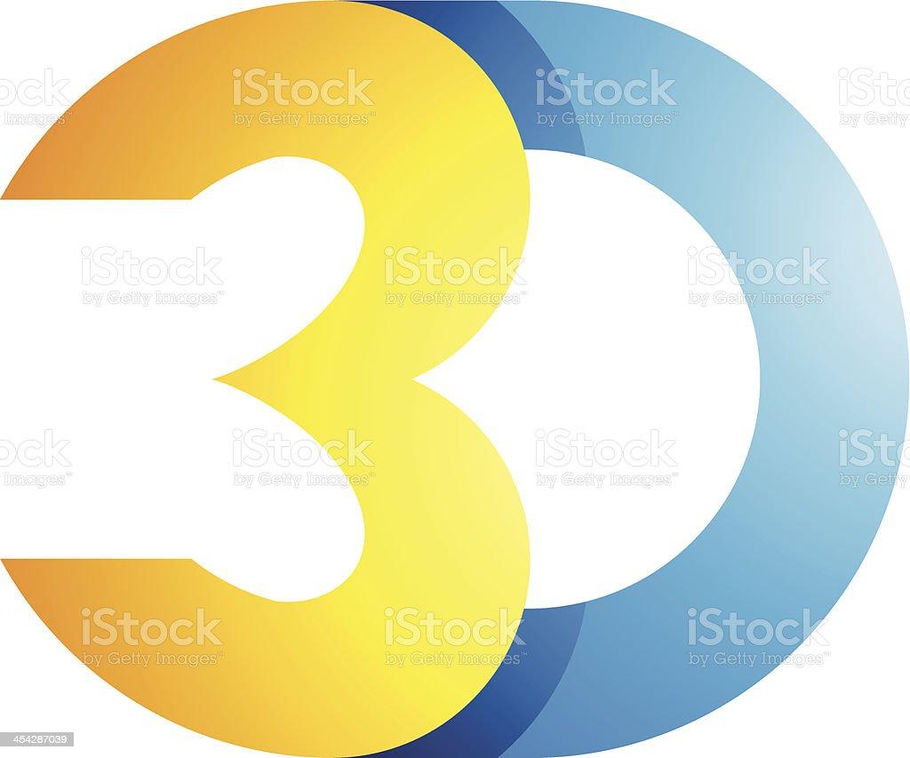 3 d Symbole de l'affichage de la technologie stock vecteur libres de droits libre de droits