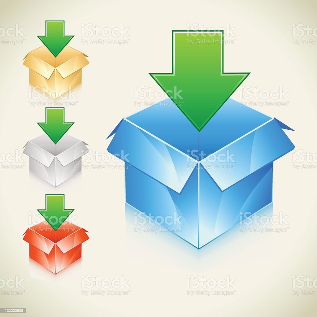 3d download box royalty-free stock vector art