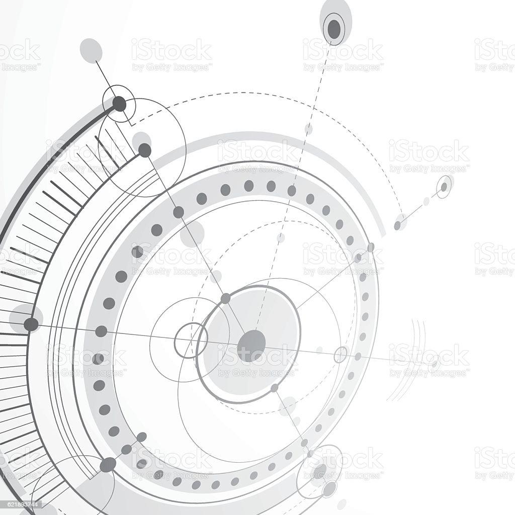 3d engineering technology vector backdrop. Technical mechanism vector art illustration