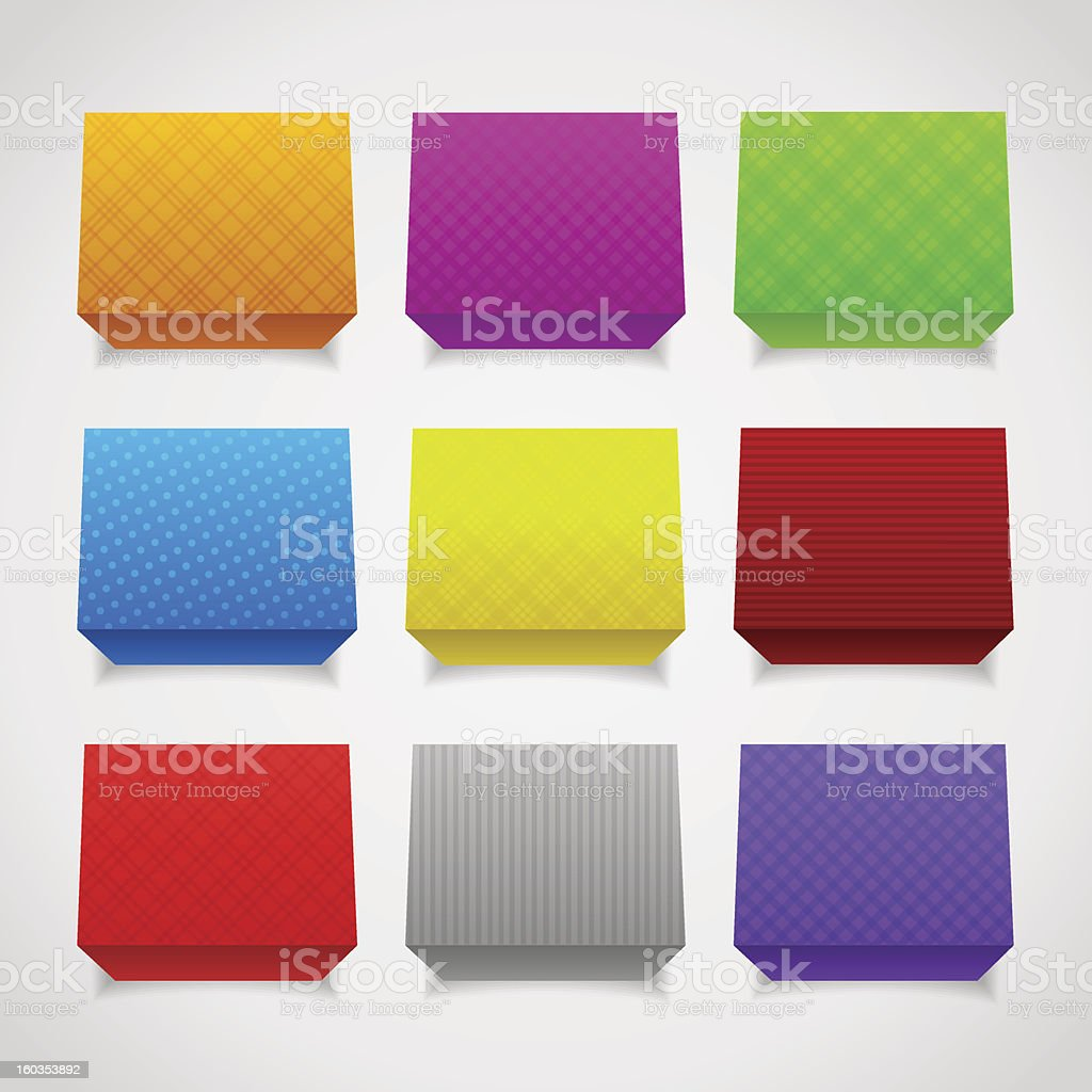 3d fabric cubes vector art illustration