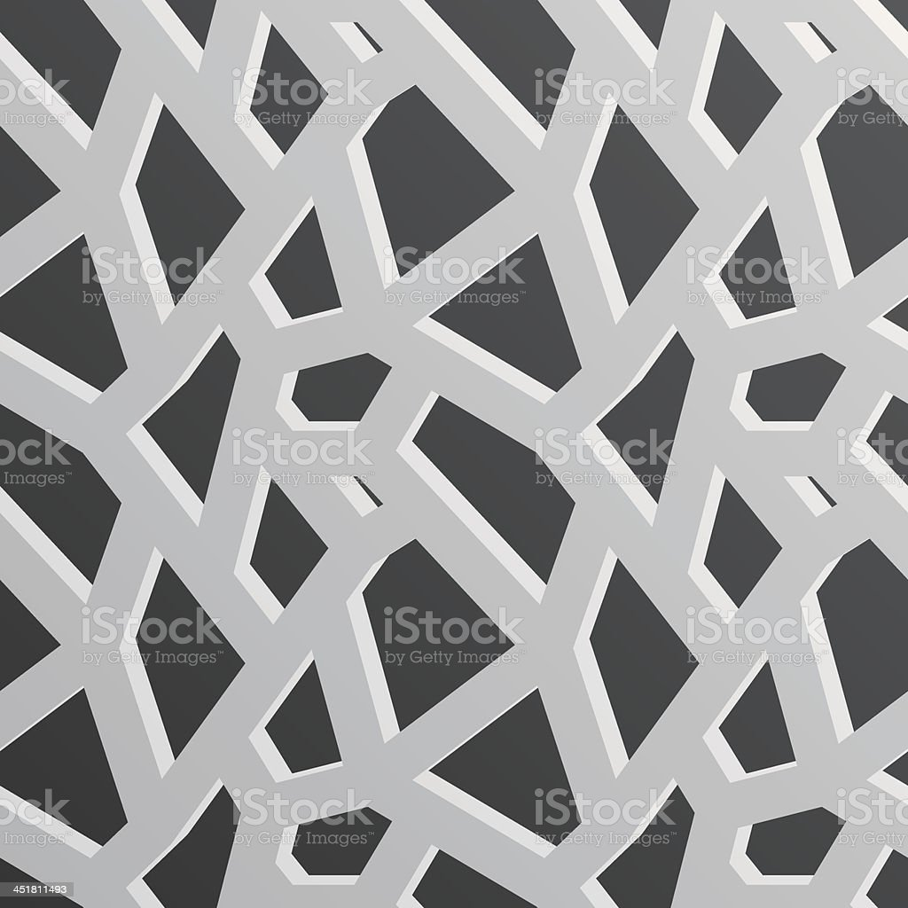 3d geometric shape seamless pattern royalty-free stock vector art