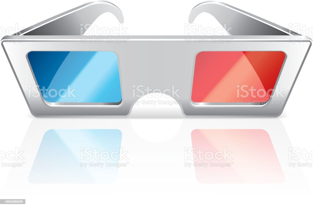 3d glasses isolated on white vector royalty-free stock vector art