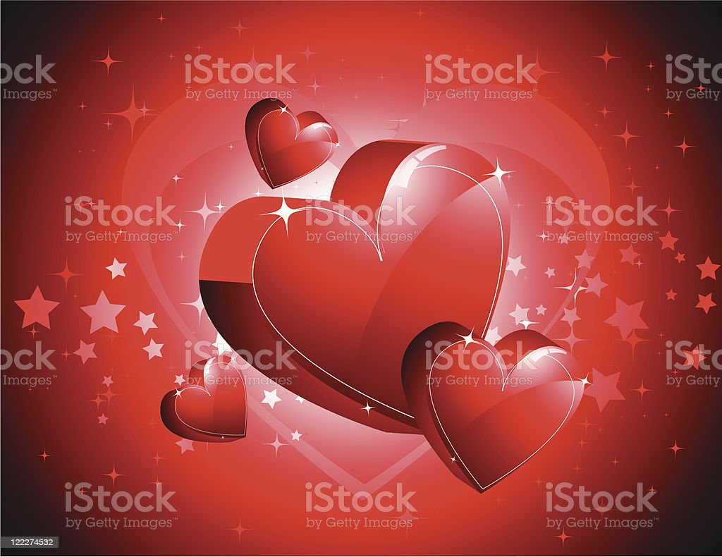 3d hearts royalty-free stock vector art