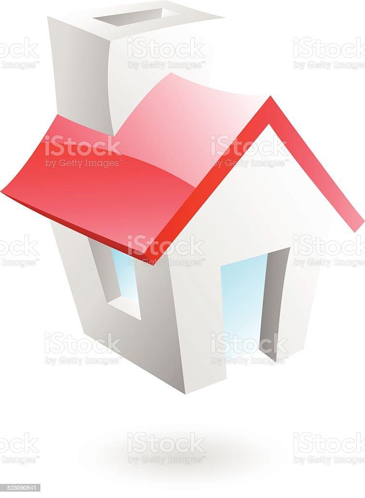 3 d maison stock vecteur libres de droits libre de droits