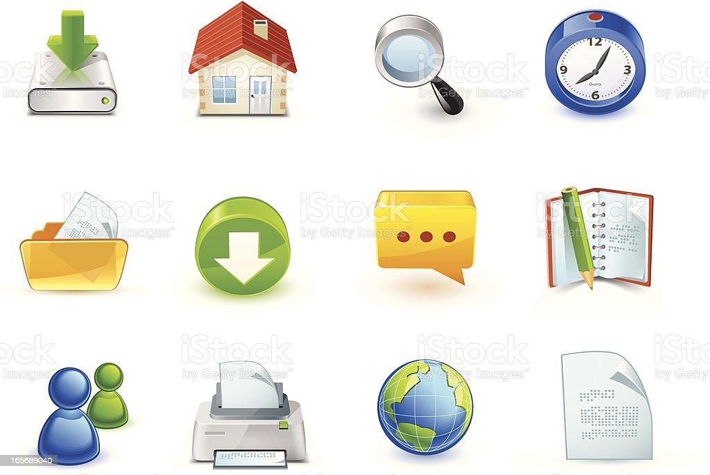3d icons vector art illustration
