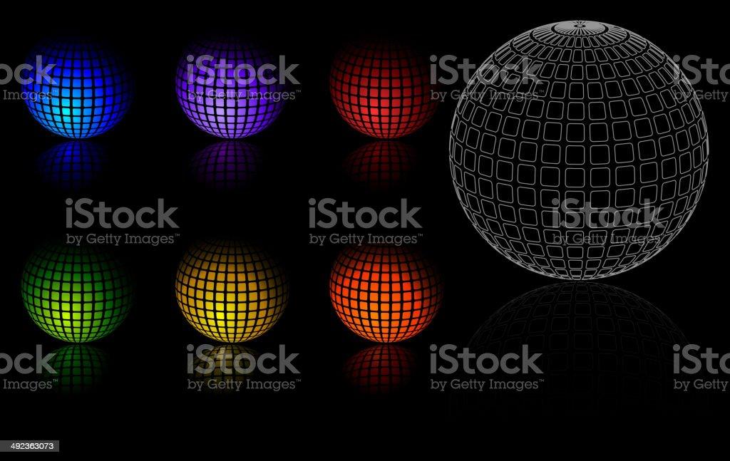 3 d esferas de color aislado illustracion libre de derechos libre de derechos