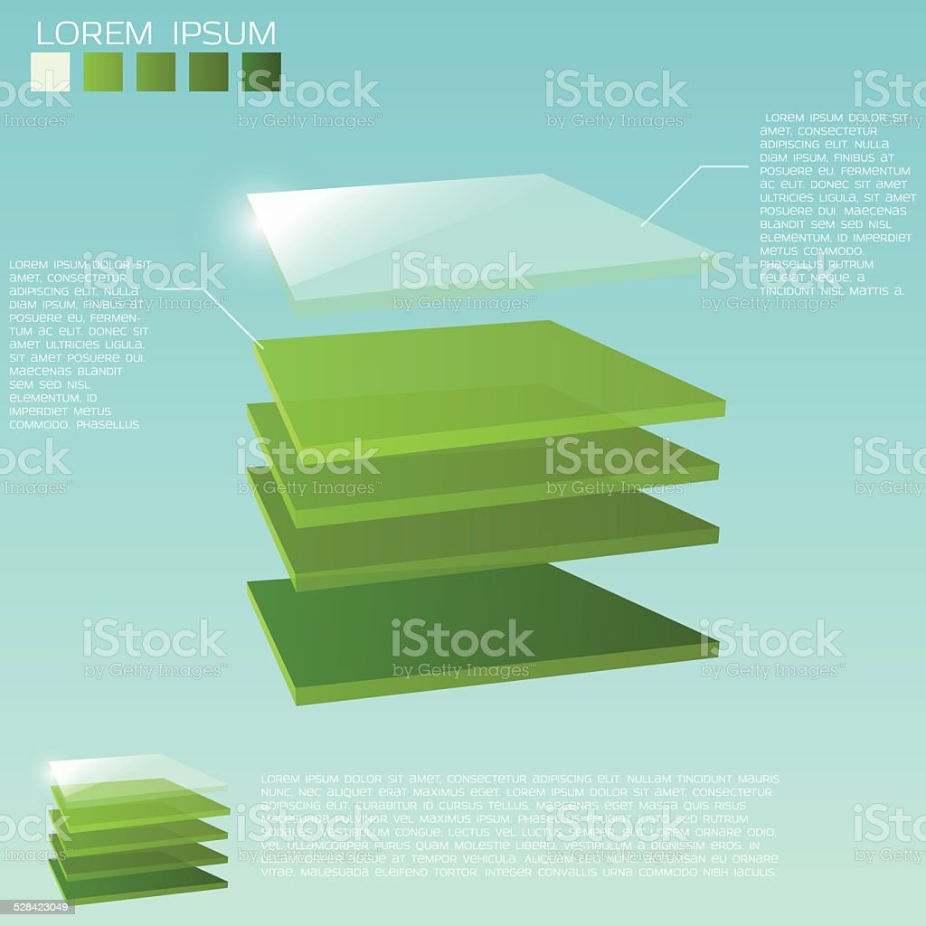 3d layers background vector art illustration
