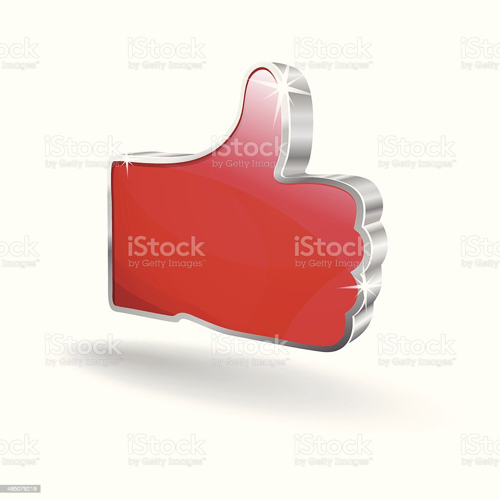 3d Like Hand Vector Icon royalty-free stock vector art