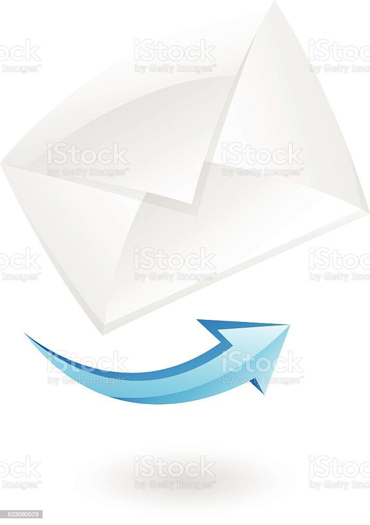 3 d icône courrier stock vecteur libres de droits libre de droits