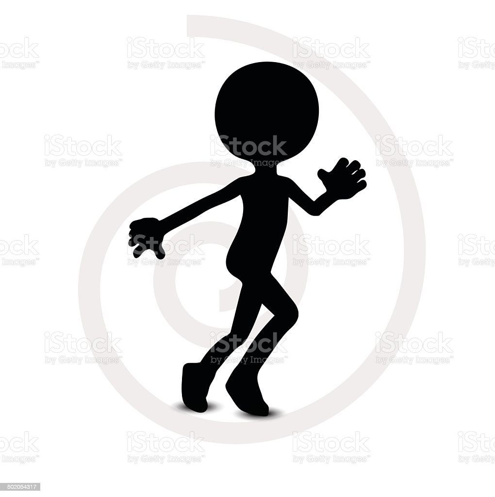 3d man in running pose royalty-free stock vector art